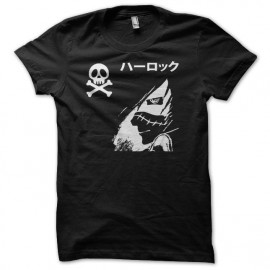 T-shirt Albator ハーロック Harokku profil white/black