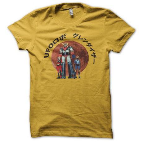 Tee shirt Goldorak lune rouge UFOロボ グレンダイザー jaune