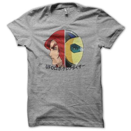 Tee shirt Actarus Goldorak UFOロボ グレンダイザー gris