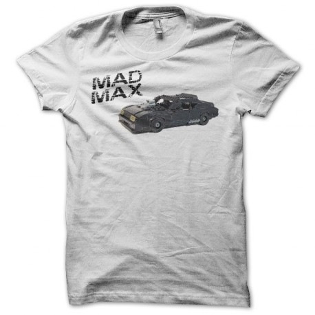 Tee shirt Mad Max interceptor lego blanc