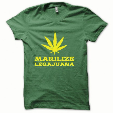 Tee shirt Marilize Legajuana jaune/vert bouteille