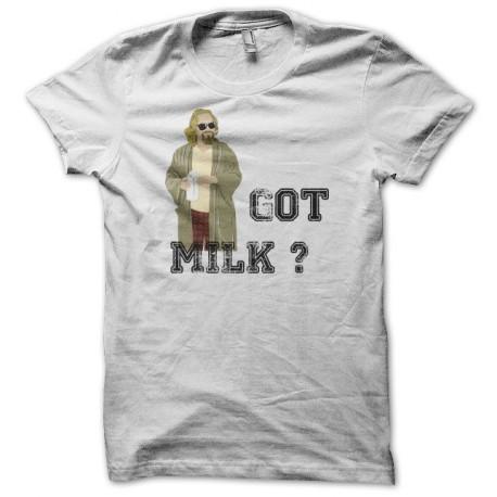 T-shirt The Big Lebowski got milk white