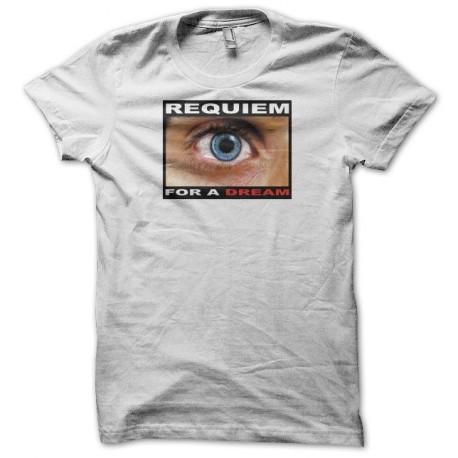 Tee shirt Requiem for a dream eye blanc