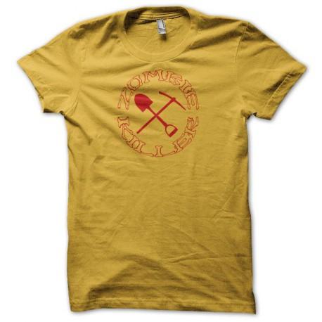 Tee shirt zombie killer pelle pioche rouge/jaune