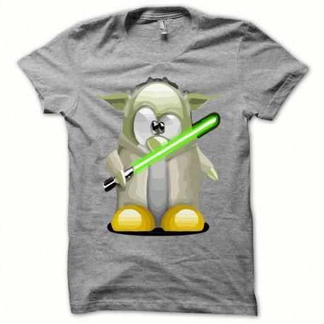 Tee shirt Parodie Star Wars Yoda sabre gris