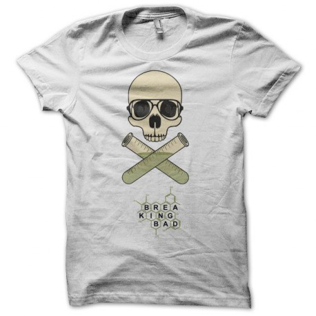 Tee shirt Breaking bad Heisenberg crâne blanc