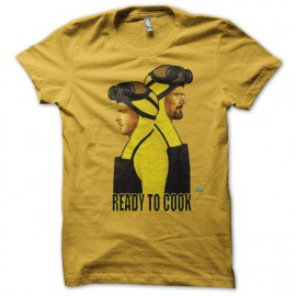 Tee shirt Breaking bad version Heisenberg et Pinkman ready to cook jaune