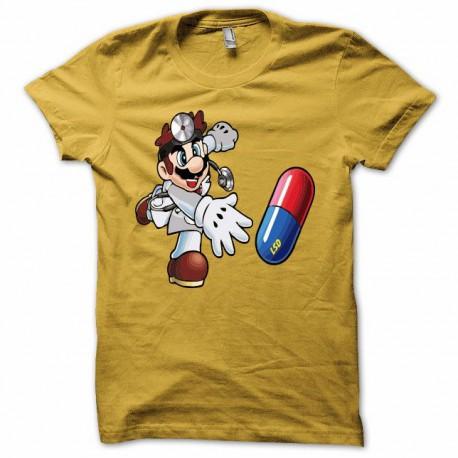 Tee shirt Mario docteur lsd jaune