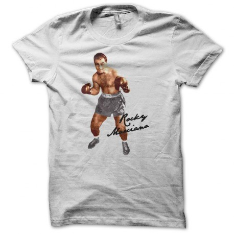 Tee shirt boxe Rocky Marciano blanc