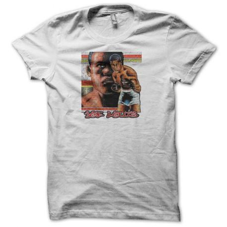 Tee shirt boxe Joe Louis blanc
