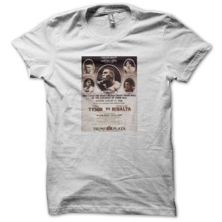 Tee shirt boxe Tyson vs Ribalta 1986 blanc
