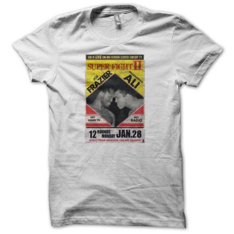 Tee shirt boxe Ali vs Frazier 1974 blanc
