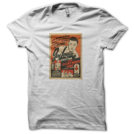 Tee shirt boxe Joe Louis movie blanc