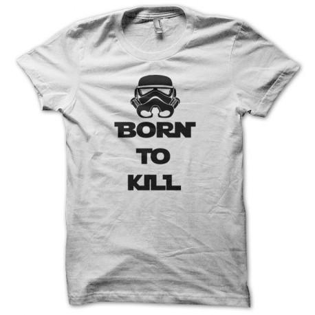 Tee shirt Born to kill Star Wars Stormtrooper noir/blanc