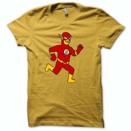 Tee shirt simpson Flash  jaune