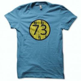 Tee shirt The Big Bang Theory sheldon 73 bleu