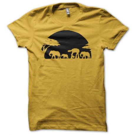 Tee shirt Parodie Star Wars Bipede savane noir/jaune