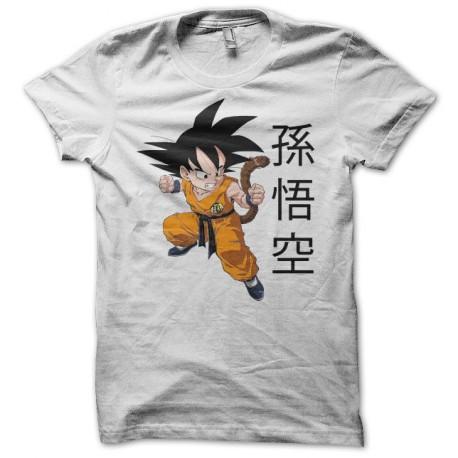 Tee shirt Son Goku 孫悟空 dragon ball blanc