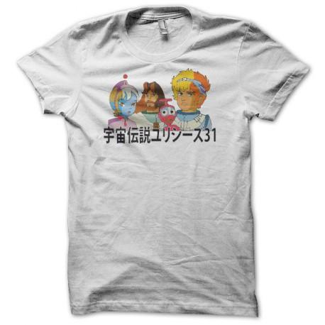 Tee shirt Ulysse 31 宇宙伝説ユリシーズ31 blanc