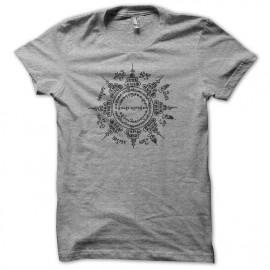 Tee shirt temple bouda Muay Thai provenance thailande gris