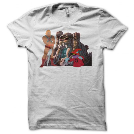 Tee shirt Maîtres de l'Univers Musclor blanc