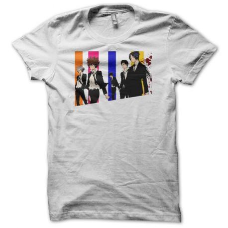 Tee shirt Reborn parodie Reservoir Dogs 家庭教師ヒットマンREBORN! blanc