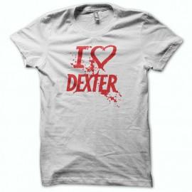 Tee shirt  love DEXTER rouge/blanc
