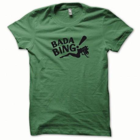 Tee shirt Bada Bing noir/vert bouteille