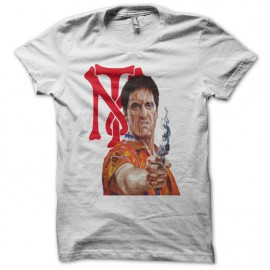 T-shirt Scarface tony montana psycho black/white