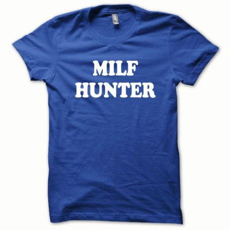 Tee shirt MILF Hunter blanc/bleu royal