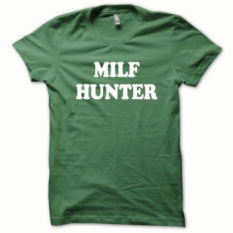 Tee shirt MILF Hunter blanc/vert bouteille