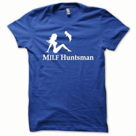 Tee shirt MILF Huntsman blanc/bleu royal