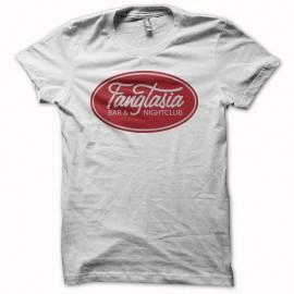 Camiseta True Blood logo fangtasia blanco