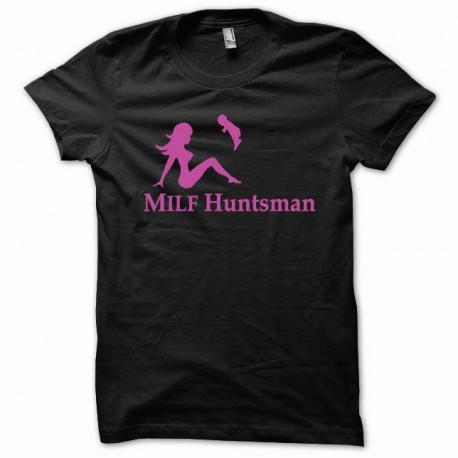 Tee shirt MILF Huntsman rose/noir