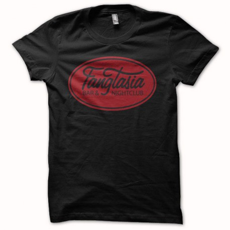 T-shirt True Blood fangtasia logo black