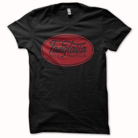 Tee shirt True Blood logo fangtasia noir