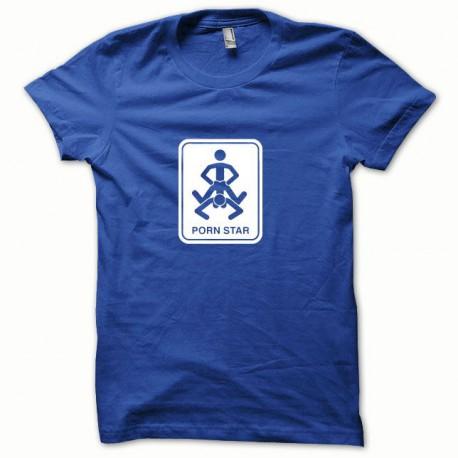Tee shirt Kamasutra Pornstar blanc/bleu royal