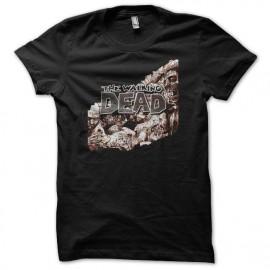 camiseta The Walking Dead comics negro
