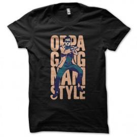 Tee shirt  Gangnam Style OPPA 강남 스타일 noir