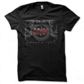 Tee shirt ACDC black ice Rouge/Noir