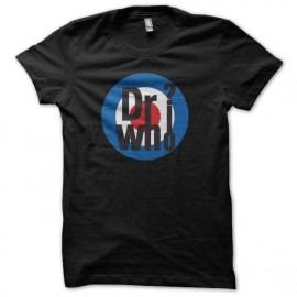 Tee shirt dr who parodie the who noir