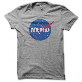 T-shirt nerd parodiy nasa black/gray