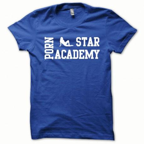 Tee shirt Porn Star Academy blanc/bleu royal