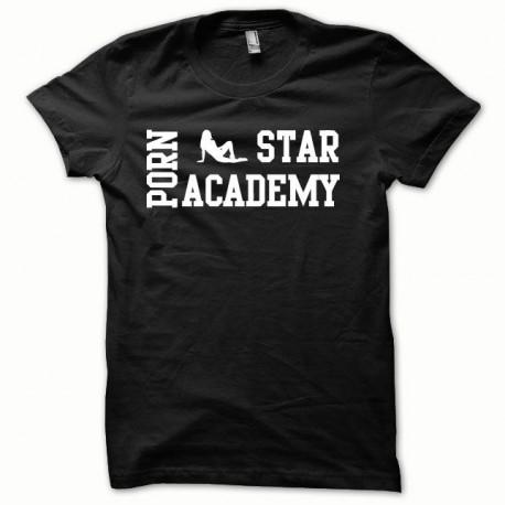 Tee shirt Porn Star Academy blanc/noir