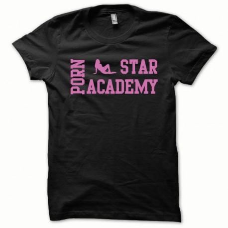 Tee shirt Porn Star Academy rose/noir
