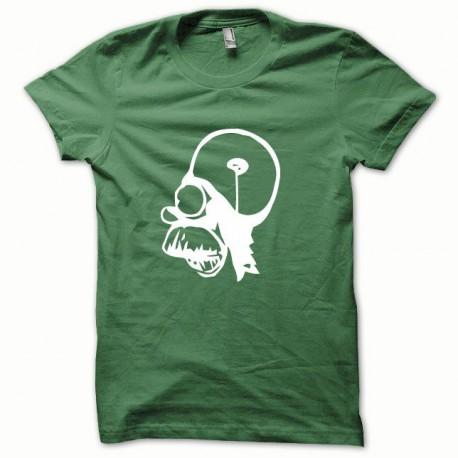 Tee shirt Parodie Homer blanc/vert bouteille