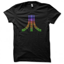 T-shirt Atari pixel color black