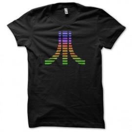 Tee shirt Atari pixel color noir
