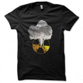 Tee shirt radiation explosion nucléaire noir