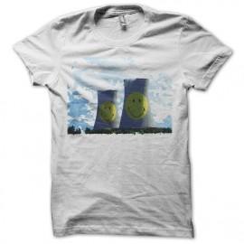 Tee shirt centrale nucléaire smiley blanc